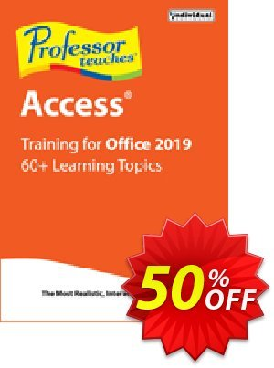 Professor Teaches Access 2019 優惠券,折扣碼 Professor Teaches Access 2013 formidable discounts code 2020,促銷代碼: formidable discounts code of Professor Teaches Access 2013 2020