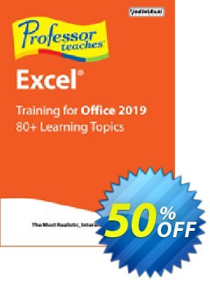 Professor Teaches Excel 2019 優惠券,折扣碼 Professor Teaches Excel 2013 wondrous discount code 2020,促銷代碼: wondrous discount code of Professor Teaches Excel 2013 2020