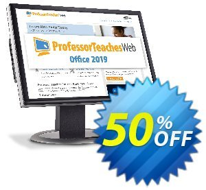 Professor Teaches Web - Office 2019 (Quarterly Subscription) discount coupon 30% OFF Professor Teaches Web - Office 2019 (Quarterly Subscription), verified - Amazing promo code of Professor Teaches Web - Office 2019 (Quarterly Subscription), tested & approved