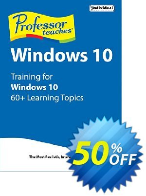 Professor Teaches Windows 10 優惠券,折扣碼 30% OFF Professor Teaches Windows 10, verified,促銷代碼: Amazing promo code of Professor Teaches Windows 10, tested & approved