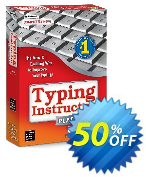 Typing Instructor Platinum 21 Upgrade discount coupon 40% OFF Typing Instructor Platinum 21 Upgrade, verified - Amazing promo code of Typing Instructor Platinum 21 Upgrade, tested & approved