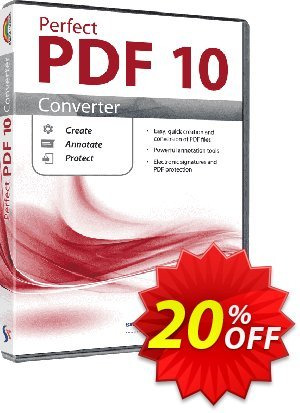 Perfect PDF 10 Converter (Family License) discount coupon Affiliate Promotion - best discounts code of Perfect PDF 10 Converter (Family) 2020