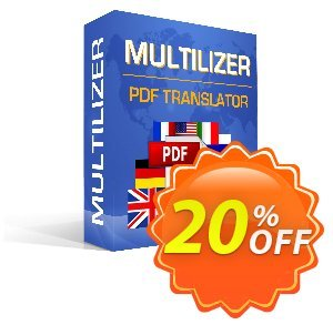 Multilizer PDF Translator Standard Coupon, discount Multilizer PDF Translator Standard staggering discount code 2019. Promotion: staggering discount code of Multilizer PDF Translator Standard 2019
