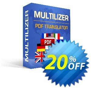 Multilizer PDF Tradutor Padrão Coupon, discount Multilizer PDF Tradutor Padrão big promotions code 2020. Promotion: big promotions code of Multilizer PDF Tradutor Padrão 2020