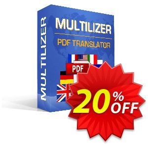 Multilizer PDF Translator Standard (русский) discount coupon Multilizer PDF Translator Standard (русский) amazing discounts code 2020 - amazing discounts code of Multilizer PDF Translator Standard (русский) 2020