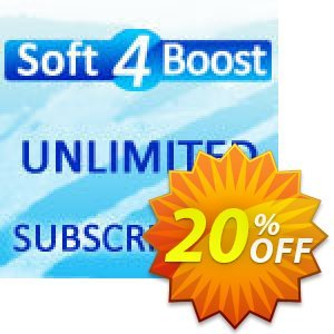 Soft4Boost Unlimited Subscription Coupon, discount Soft4Boost Unlimited Subscription imposing discount code 2020. Promotion: imposing discount code of Soft4Boost Unlimited Subscription 2020