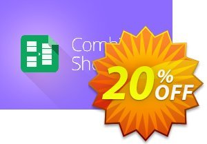 Combine Sheets add-on for Google Sheets, 1-month subscription Coupon, discount Combine Sheets add-on for Google Sheets, 1-month subscription awful promo code 2020. Promotion: awful promo code of Combine Sheets add-on for Google Sheets, 1-month subscription 2020