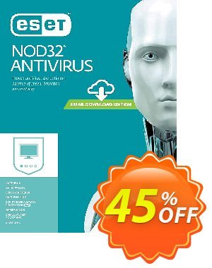 NOD32 Antivirus - Protection 1 an pour 1 ordinateur - Promo 50% discount coupon NOD32 Antivirus - Protection 1 an pour 1 ordinateur - Promo 50% wondrous deals code 2020 - wondrous deals code of NOD32 Antivirus - Protection 1 an pour 1 ordinateur - Promo 50% 2020