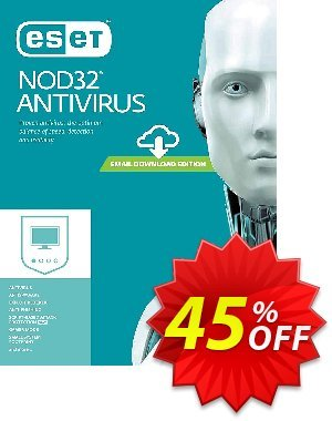 NOD32 Antivirus - Réabonnement 1 an pour 1 ordinateur discount coupon NOD32 Antivirus - Réabonnement 1 an pour 1 ordinateur marvelous promotions code 2020 - marvelous promotions code of NOD32 Antivirus - Réabonnement 1 an pour 1 ordinateur 2020