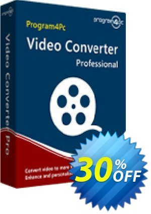 Program4Pc Video Converter Pro Coupon discount Video Converter Pro stirring sales code 2020. Promotion: stirring sales code of Video Converter Pro 2020