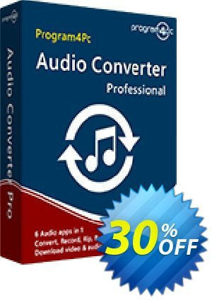 Program4Pc Audio Converter Pro Coupon, discount Audio Converter Pro excellent sales code 2020. Promotion: excellent sales code of Audio Converter Pro 2020