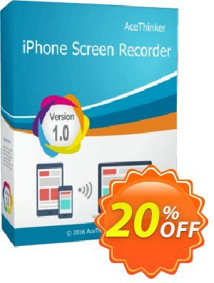 Acethinker iPhone Screen Recorder Coupon, discount iPhone Screen Recorder (Personal - 1 year) exclusive promotions code 2020. Promotion: exclusive promotions code of iPhone Screen Recorder (Personal - 1 year) 2020
