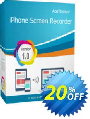 Acethinker iPhone Screen Recorder lifetime Coupon, discount iPhone Screen Recorder (Personal - lifetime) awesome sales code 2020. Promotion: awesome sales code of iPhone Screen Recorder (Personal - lifetime) 2020