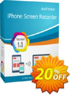 Acethinker iPhone Screen Recorder (Academic) Coupon, discount iPhone Screen Recorder (Academic - 1 year) wonderful deals code 2020. Promotion: wonderful deals code of iPhone Screen Recorder (Academic - 1 year) 2020