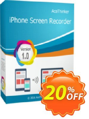 Acethinker iPhone Screen Recorder lifetime (Academic) Coupon, discount iPhone Screen Recorder (Academic - lifetime) amazing offer code 2020. Promotion: amazing offer code of iPhone Screen Recorder (Academic - lifetime) 2020