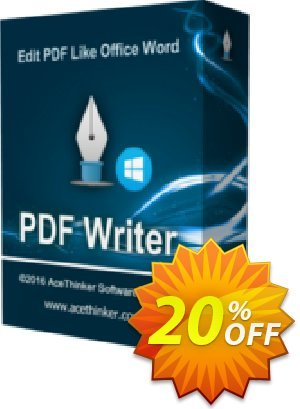 Acethinker PDF Writer lifetime Coupon discount PDF Writer (Personal - lifetime) marvelous discounts code 2020. Promotion: marvelous discounts code of PDF Writer (Personal - lifetime) 2020