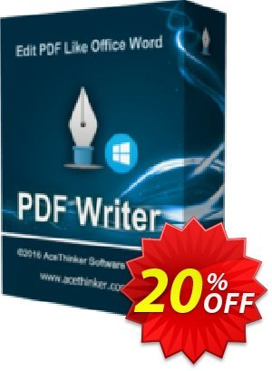 Acethinker PDF Writer (Academic) discount coupon PDF Writer (Academic - 1 year) wondrous promotions code 2020 - wondrous promotions code of PDF Writer (Academic - 1 year) 2020