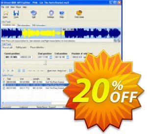 Pistonsoft Direct MP3 Splitter and Joiner (Business) discount coupon Direct MP3 Splitter and Joiner (Business License) fearsome promotions code 2020 - fearsome promotions code of Direct MP3 Splitter and Joiner (Business License) 2020