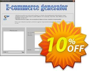 E-commerce generator Coupon, discount E-commerce generator excellent sales code 2021. Promotion: excellent sales code of E-commerce generator 2021