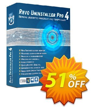 Revo Uninstaller PRO PORTABLE discount coupon 51 % off ALL edition Revo Uninstaller -