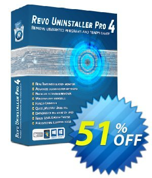 Revo Uninstaller PRO PORTABLE Coupon, discount 51 % off ALL edition Revo Uninstaller. Promotion: