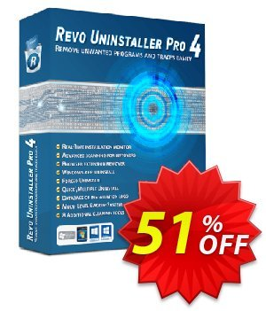 Revo Uninstaller PRO PORTABLE - 2 years 優惠券,折扣碼 51 % off ALL edition Revo Uninstaller,促銷代碼: