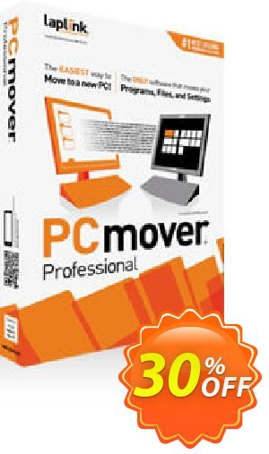 Laplink PCmover PROFESSIONAL discount coupon 30% OFF Laplink PCmover PROFESSIONAL, verified - Excellent promo code of Laplink PCmover PROFESSIONAL, tested & approved