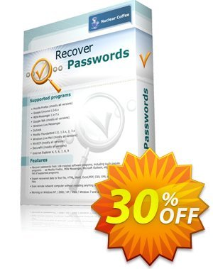 Recover Passwords Coupon, discount 30% OFF Recover Passwords, verified. Promotion: Marvelous discounts code of Recover Passwords, tested & approved