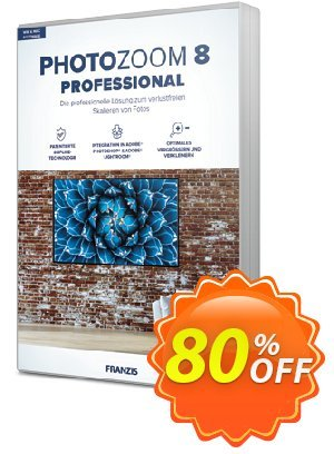 PhotoZoom 8 Pro 프로모션 코드 15% OFF PhotoZoom Pro, verified 프로모션: Awful sales code of PhotoZoom Pro, tested & approved