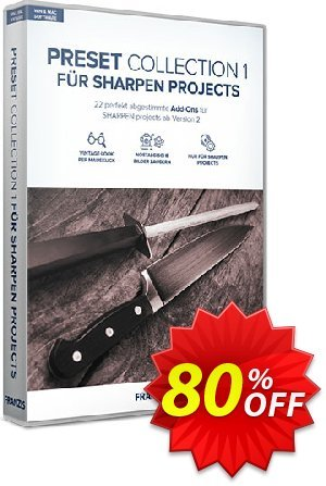Franzis SHARPEN Preset Collection #1 Coupon discount 15% OFF Franzis SHARPEN Preset Collection #1, verified. Promotion: Awful sales code of Franzis SHARPEN Preset Collection #1, tested & approved