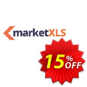MarketXLS Pro Plus Annual Billing discount coupon 15% OFF MarketXLS Pro Plus Annual Billing, verified - Super discount code of MarketXLS Pro Plus Annual Billing, tested & approved