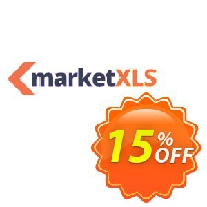 MarketXLS Cloud Annual Billing discount coupon 15% OFF MarketXLS Cloud Annual Billing, verified - Super discount code of MarketXLS Cloud Annual Billing, tested & approved