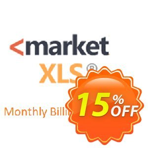 MarketXLS Monthly Billing discount coupon 15% OFF MarketXLS Monthly Billing, verified - Super discount code of MarketXLS Monthly Billing, tested & approved