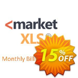 MarketXLS Pro Plus RT Monthly Billing discount coupon 15% OFF MarketXLS Pro Plus RT Monthly Billing, verified - Super discount code of MarketXLS Pro Plus RT Monthly Billing, tested & approved