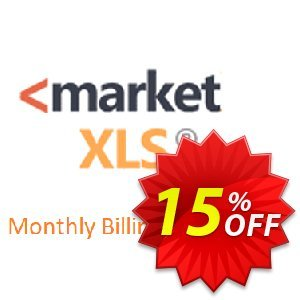 MarketXLS Cloud Monthly Billing discount coupon 15% OFF MarketXLS Cloud Monthly Billing, verified - Super discount code of MarketXLS Cloud Monthly Billing, tested & approved