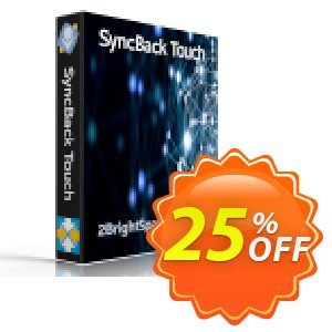 SyncBack Touch discount coupon 25% OFF SyncBack Touch, verified - Best promo code of SyncBack Touch, tested & approved