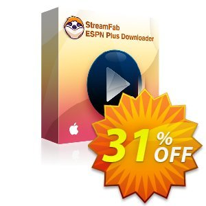 StreamFab ESPN Plus Downloader for MAC Coupon, discount 31% OFF StreamFab ESPN Plus Downloader for MAC, verified. Promotion: Special sales code of StreamFab ESPN Plus Downloader for MAC, tested & approved