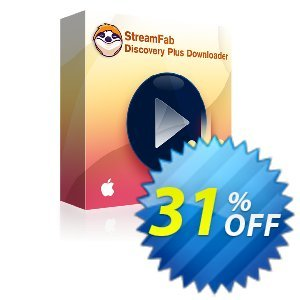 StreamFab Discovery Plus Downloader for MAC discount coupon 31% OFF StreamFab Discovery Plus Downloader for MAC, verified - Special sales code of StreamFab Discovery Plus Downloader for MAC, tested & approved