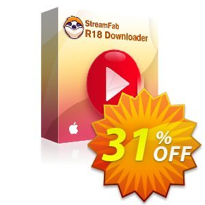 StreamFab R18 Downloader for MAC discount coupon 31% OFF StreamFab R18 Downloader for MAC, verified - Special sales code of StreamFab R18 Downloader for MAC, tested & approved