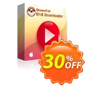 StreamFab R18 Downloader for MAC Lieftime discount coupon 30% OFF StreamFab R18 Downloader for MAC Lieftime, verified - Special sales code of StreamFab R18 Downloader for MAC Lieftime, tested & approved
