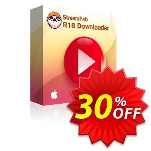 StreamFab R18 Downloader for MAC (1 year) discount coupon 30% OFF StreamFab R18 Downloader for MAC (1 year), verified - Special sales code of StreamFab R18 Downloader for MAC (1 year), tested & approved