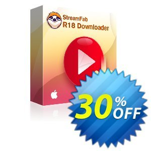 StreamFab R18 Downloader for MAC (1 month) 프로모션 코드 30% OFF StreamFab R18 Downloader for MAC (1 month), verified 프로모션: Special sales code of StreamFab R18 Downloader for MAC (1 month), tested & approved