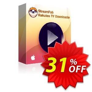 StreamFab Rakuten Downloader PRO for MAC Lifetime Coupon, discount 31% OFF StreamFab Rakuten Downloader PRO for MAC Lifetime, verified. Promotion: Special sales code of StreamFab Rakuten Downloader PRO for MAC Lifetime, tested & approved