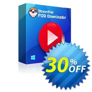 StreamFab FOD Downloader for MAC (1 Year) Coupon, discount 30% OFF StreamFab FOD Downloader for MAC (1 Year), verified. Promotion: Special sales code of StreamFab FOD Downloader for MAC (1 Year), tested & approved