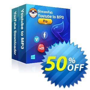 StreamFab YouTube Downloader PRO (1 Year) Coupon, discount 30% OFF StreamFab YouTube Downloader PRO (1 Year), verified. Promotion: Special sales code of StreamFab YouTube Downloader PRO (1 Year), tested & approved