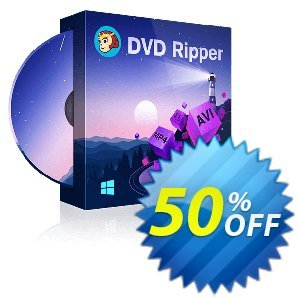 DVDFab DVD Ripper (1 month License) 優惠券,折扣碼 50% OFF , verified,促銷代碼: Special sales code of , tested & approved