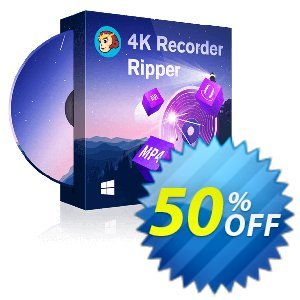 DVDFab 4K Recorder Ripper Coupon, discount 50% OFF DVDFab 4K Recorder Ripper, verified. Promotion: Special sales code of DVDFab 4K Recorder Ripper, tested & approved