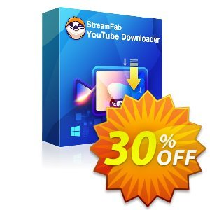 StreamFab Youtube Downloader (1 Month) Coupon, discount 30% OFF StreamFab Youtube Downloader (1 Month), verified. Promotion: Special sales code of StreamFab Youtube Downloader (1 Month), tested & approved