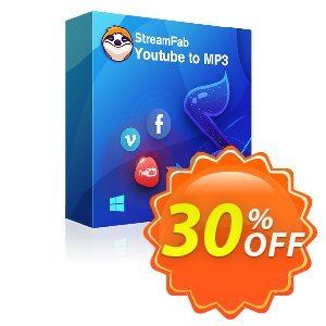 StreamFab YouTube to MP3 Lifetime discount coupon 30% OFF StreamFab YouTube to MP3 Lifetime, verified - Special sales code of StreamFab YouTube to MP3 Lifetime, tested & approved