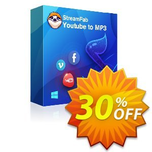 StreamFab YouTube to MP3 (1 Year License) discount coupon 30% OFF StreamFab YouTube to MP3 (1 Year License), verified - Special sales code of StreamFab YouTube to MP3 (1 Year License), tested & approved